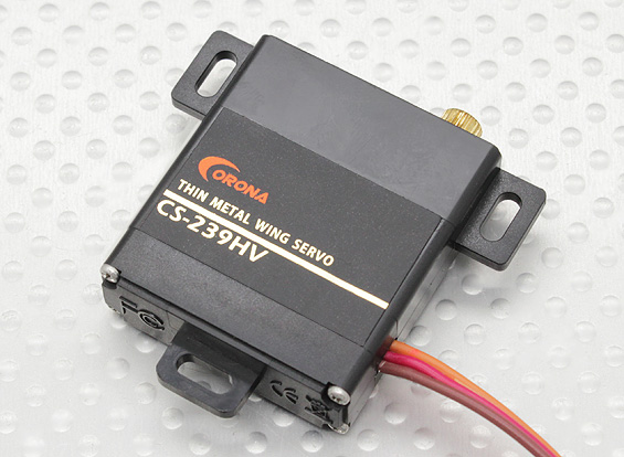 Corona CS-239HV Analog Slim Wing Servo (Metal Gear) 4.6kg / .13sec / 22g
