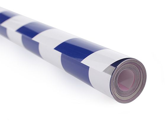 Covering Film Grill-work Blue/White  (sold per meter )  1404