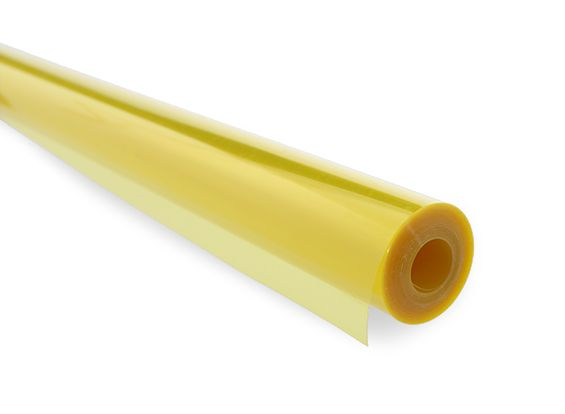 Covering Film Transparent Yellow  (sold per meter )  1203
