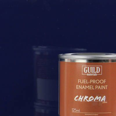 Guild Materials Chroma Dark Blue Gloss Enamel Fuel-Proof Paint  (125ml Tin)  GLDCHR6204