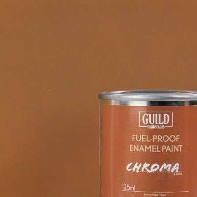 Guild Materials Chroma Matt Dark Earth  Enamel Fuel-Proof Paint (125ml Tin) GLDCHR6314