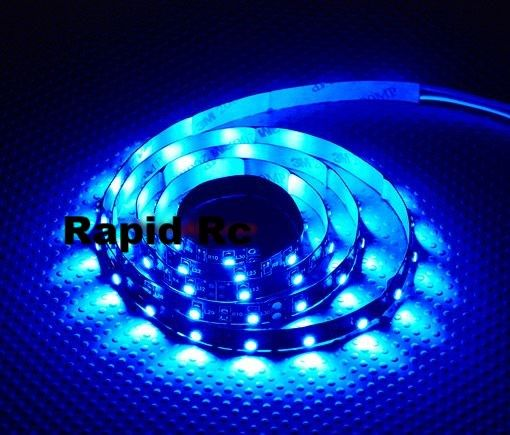 High Density Waterproof R C Led Flexible Strip Blue 1mtr