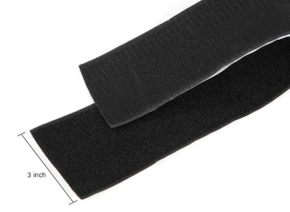 Polyester Velcro Peel-n-Stick Self-Adhesive V-STRONG Black ( half meter )
