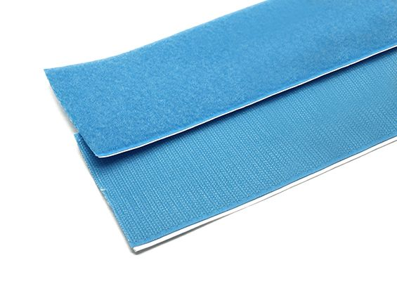 Polyester Velcro Peel-n-Stick Self-Adhesive V-STRONG Blue ( one meter )