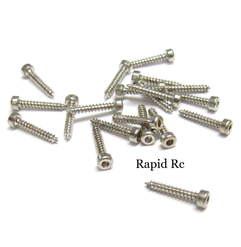 Servo Mounting Screws 2.5mm x 12mm Socket Head silver
