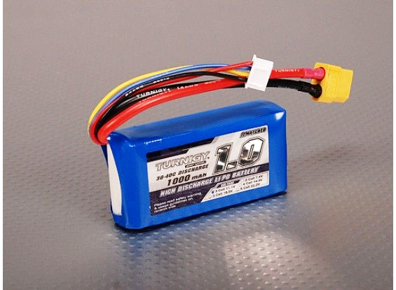 Turnigy 1000mAh 3S 30C Lipo Battery Pack