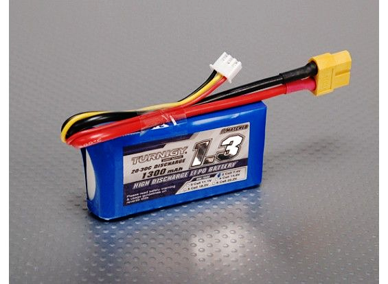 Turnigy 1300mAh 2S 20C Lipo battery Pack