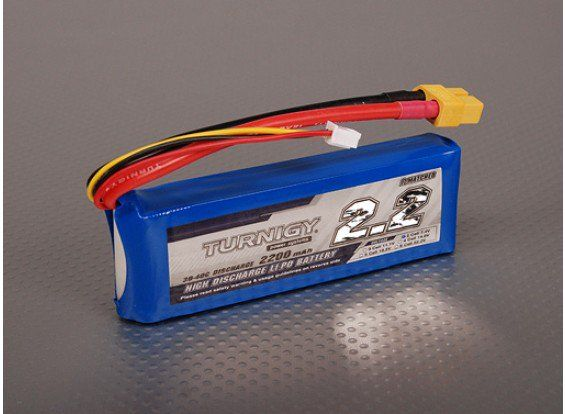 Turnigy 2200mAh 2S 30C Lipo battery Pack