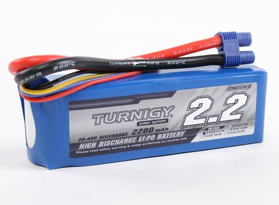 Turnigy 2200mAh 3S 30C Lipo Battery Pack ( EC3 )