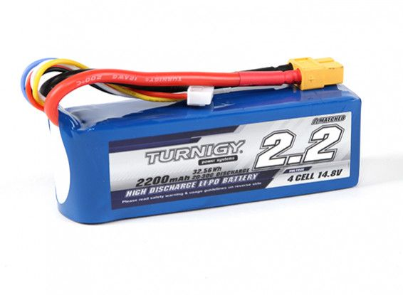Turnigy 2200mAH 4S 20C Lipo battery Pack w/ XT60 Connector