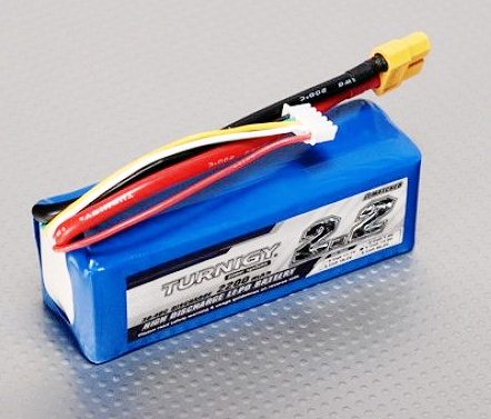 Turnigy 2200mAh 4S 30C Lipo Battery Pack w/ XT60