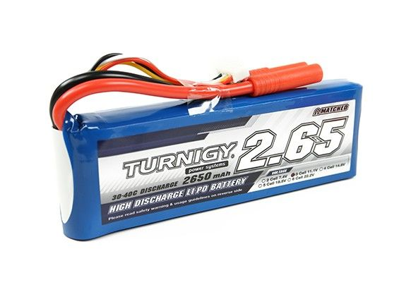 Turnigy 2650mAh 3S 30C Lipo battery Pack