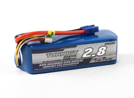 Turnigy 2800mAh 4S 30C LiPo battery Pack ( EC3 )