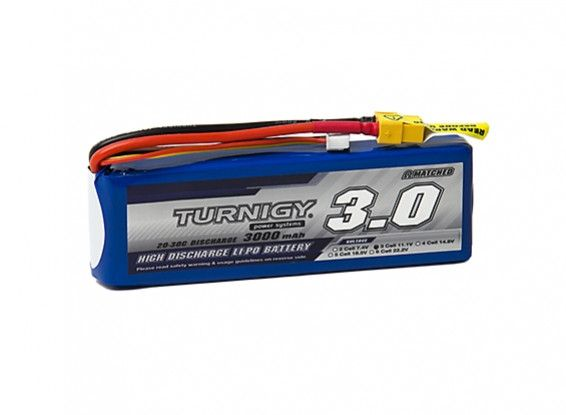 Turnigy 3000mAh 3S 20C Lipo battery Pack w/XT-60