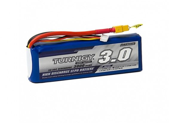 Turnigy 3000mAh 3S 30C Lipo Battery Pack w/XT-60