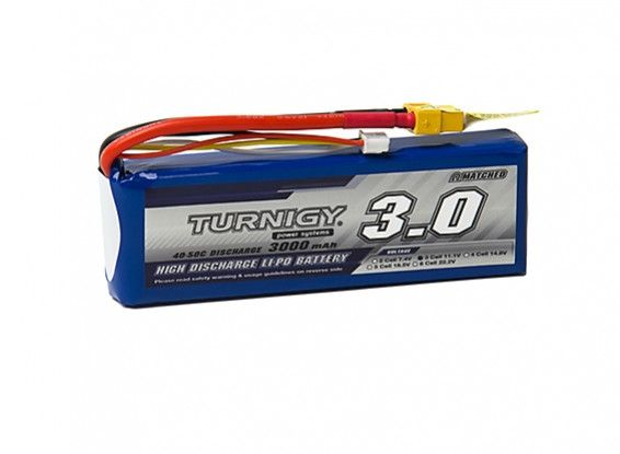 Turnigy 3000mAh 3S 40C Lipo battery Pack w/XT-60