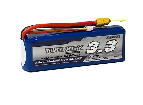 Turnigy 3300mAh 3S 30C Lipo battery Pack w/XT-60