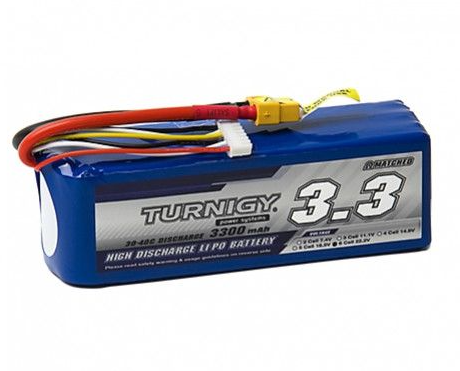 Turnigy 3300mAh 6S 30C Lipo Battery Pack w/XT-60