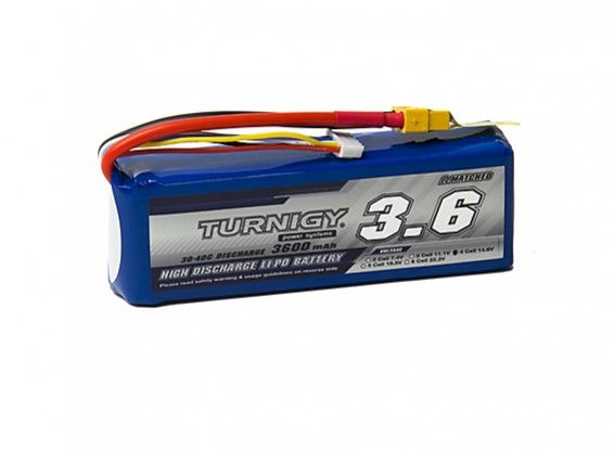 Turnigy 3600mAh 4S 30C Lipo Battery Pack w/XT-60
