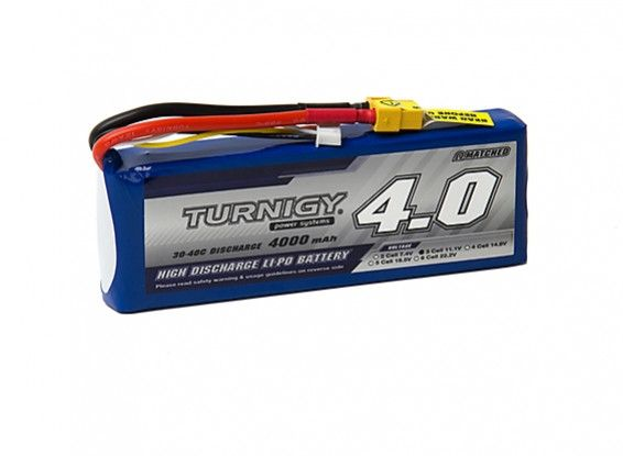 Turnigy 4000mAh 3S 30C Lipo Battery Pack w/XT-60