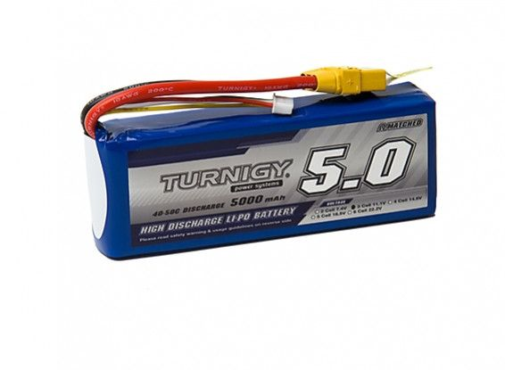 Turnigy 5000mAh 3S 40C Lipo Battery Pack w/XT-90