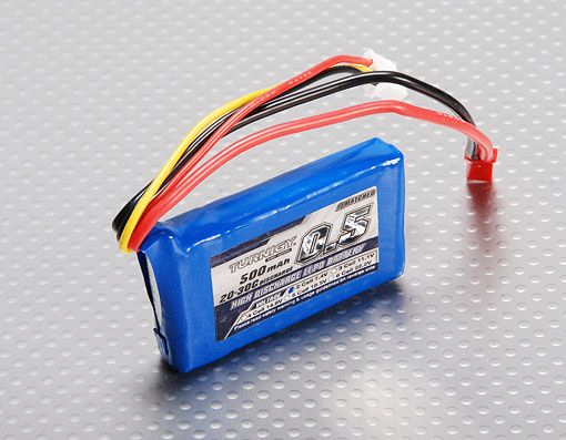 Turnigy 500mAh 2S 20C Lipo Battery Pack