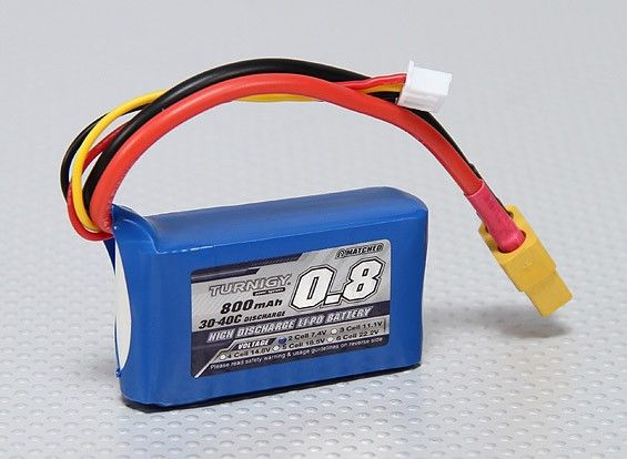 Turnigy 800mAh 2S 30C Lipo battery Pack