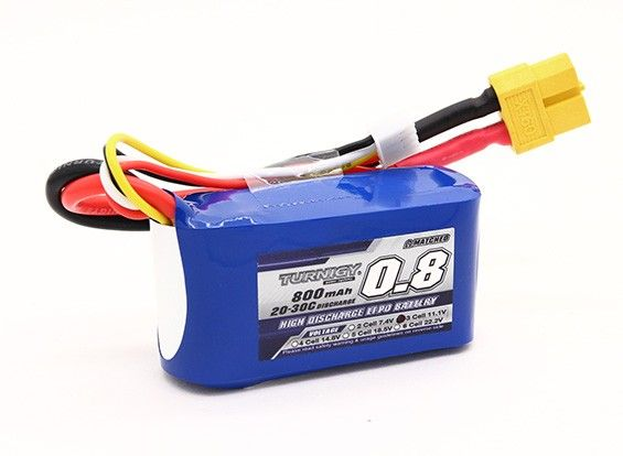Turnigy 800mAh 3S 20C Lipo Battery Pack XT60