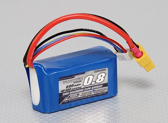 Turnigy 800mAh 3S 40C Lipo Battery Pack