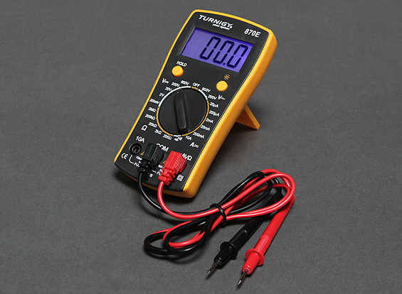 Turnigy 870E Digital Multimeter w/Backlit Display