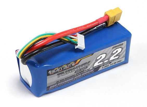 Turnigy Heavy Duty 2200mAh 4S 60C Lipo Pack