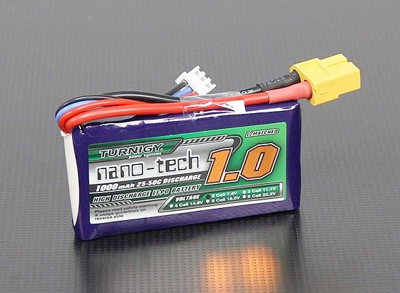 Turnigy nano-tech 1000mah 2S 25~50C Lipo battery Pack