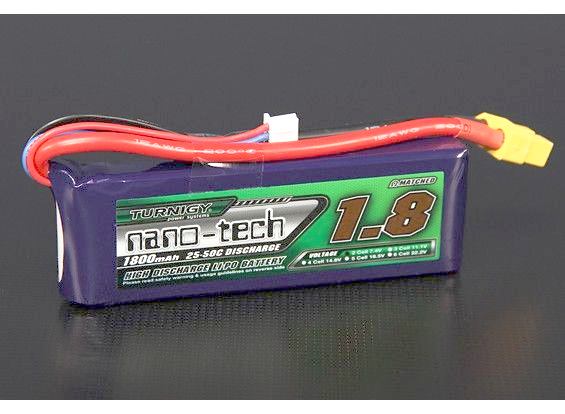 Turnigy nano-tech 1800mah 2S 25~50C Lipo Battery Pack