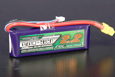 Turnigy nano-tech 2200mah 2S 35~70C Lipo battery Pack