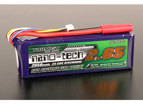Turnigy nano-tech 2650mah 4S 25~50C Lipo battery Pack