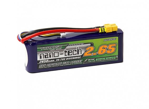 Turnigy nano-tech 2650mah 4S 35~70C Lipo battery Pack w/XT-60