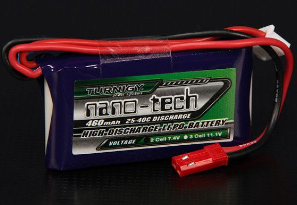 Turnigy nano-tech 460mah 2S 25~40C Lipo Battery Pack